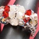 Easy 3 flower Crystal Ring