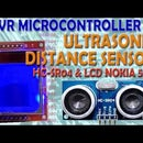 AVR Microcontroller. Ultrasonic Distance Sensor. HC-SR04 on LCD NOKIA 5110