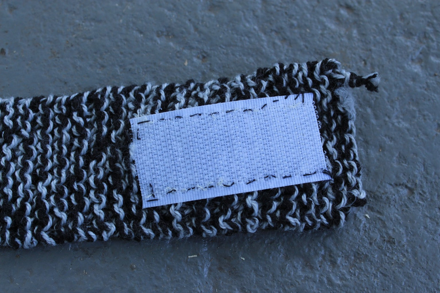 Sew Velcro to Your Knitted Band (OPTIONAL)