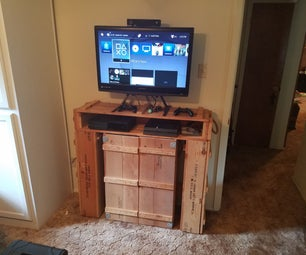 Entertainment Center From Ammo Crates