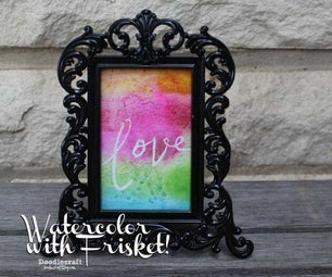 Watercolor Word Art With Frisket!