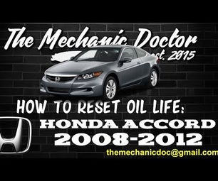 How to Reset Oil Life: Honda Accord 2008-2012.