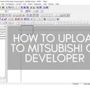 How to Upload to Mitsubishi GX Developer (using JL1N-14MR PLC)