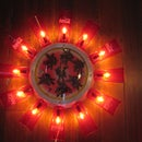 Upcycled, reused and recycled Glowing Clock.
