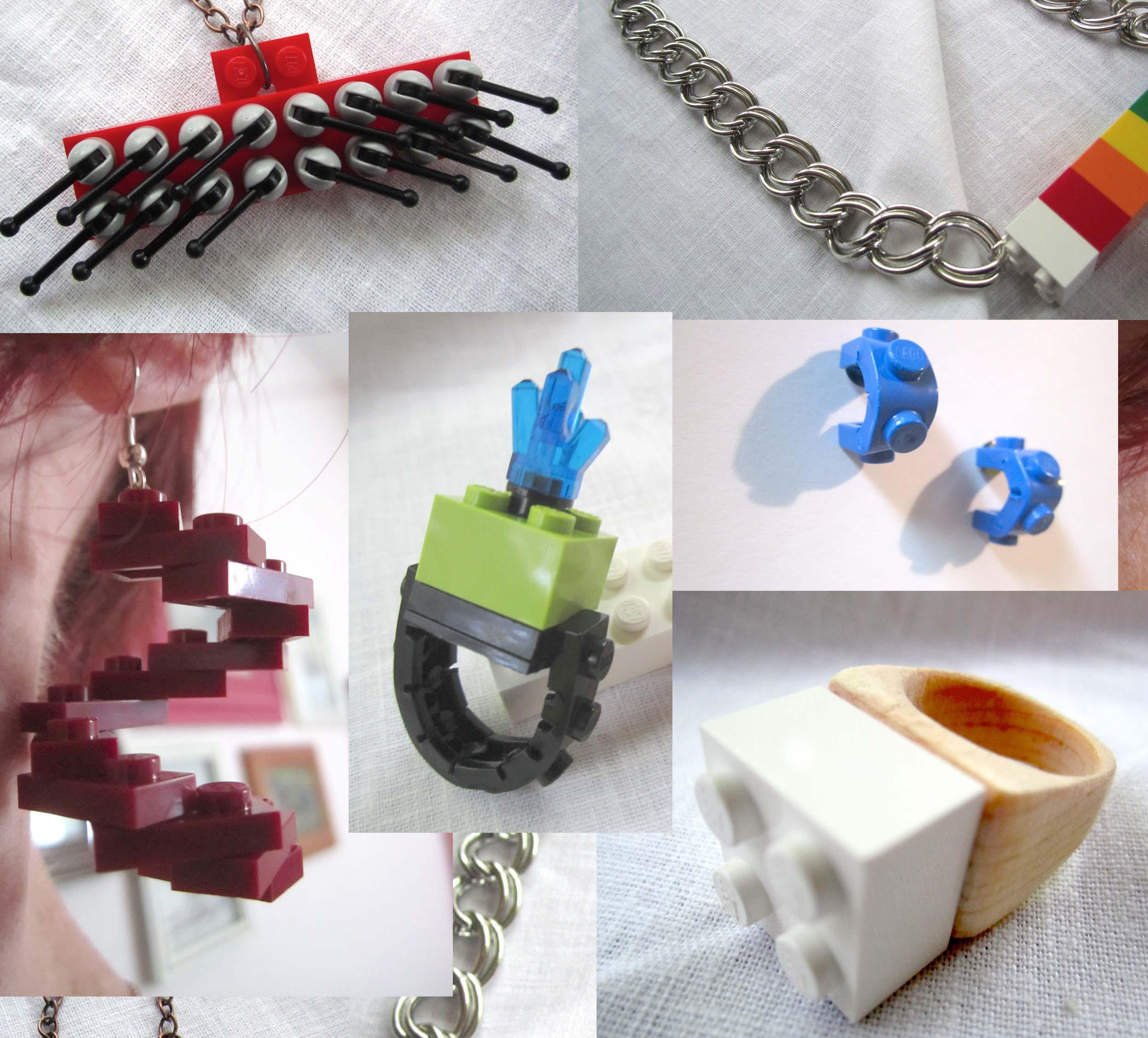Lego Jewels - 6 Customizable Lego Jewelry Designs