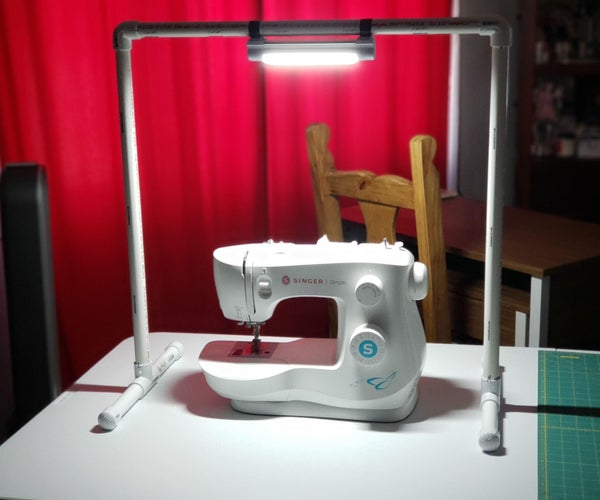 Simple PVC Workstation Light