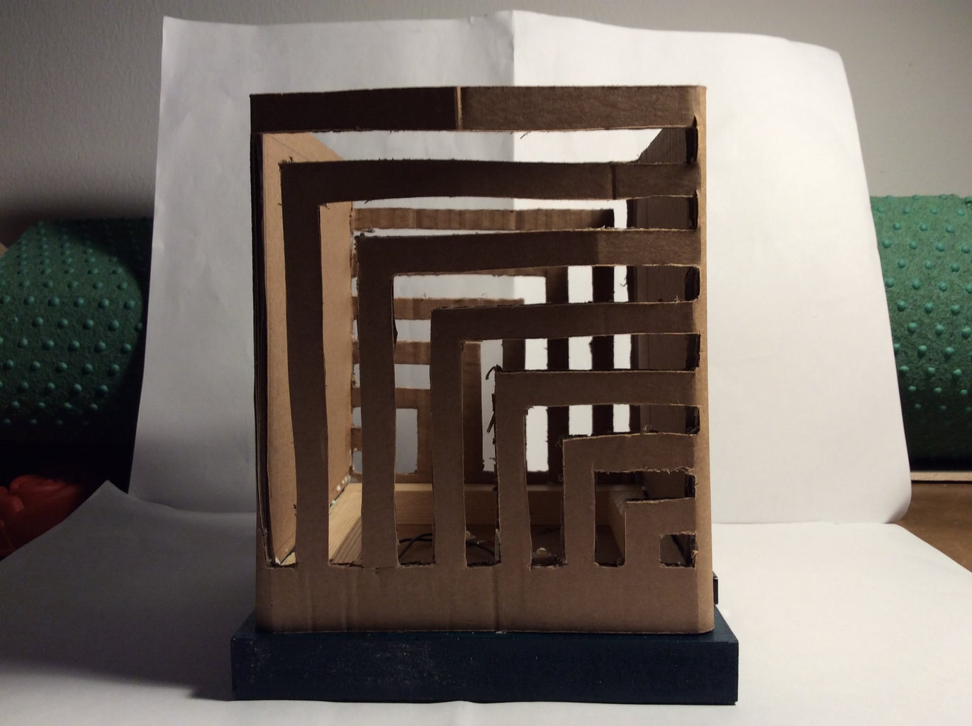 Glue the Cardboard to the MDF