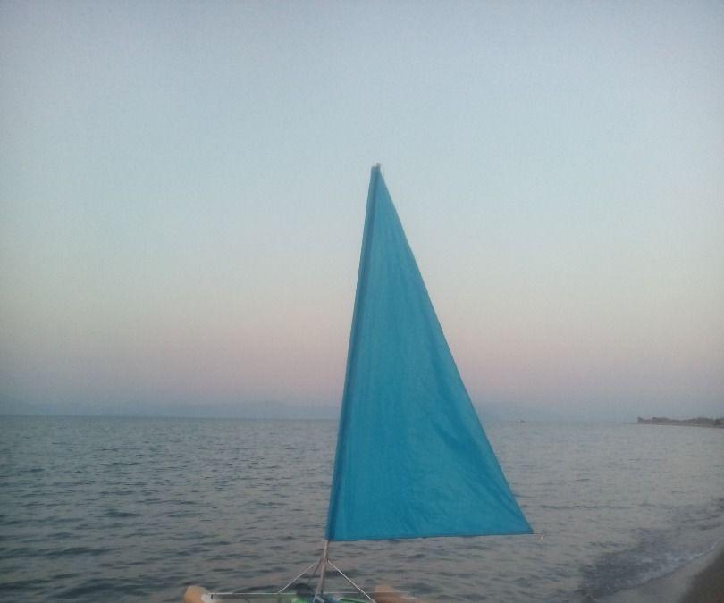 intex kayak sailing