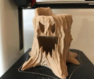 3D Printed Halloween Tree Stump LED Candle Holder
