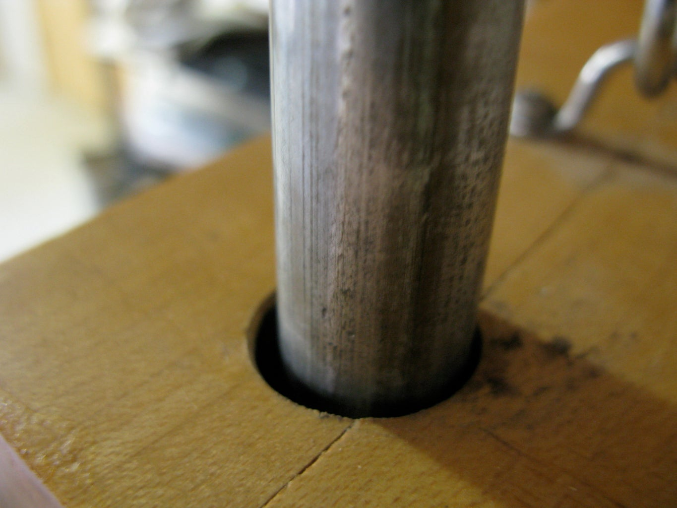 STEP NINE:  Drill Holes for Threaded Rods.