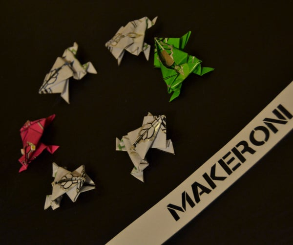 """E-Origami """"Creating Electronic Paper Frogs"""""""
