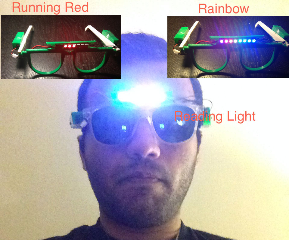 Glasses with Headlights and a dual Party mode