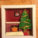 How to Make a Shadowbox Christmas Scene
