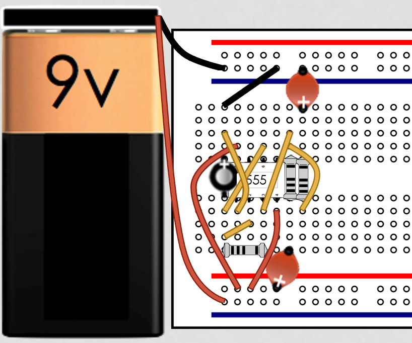 Alternating LED With 555 Timer