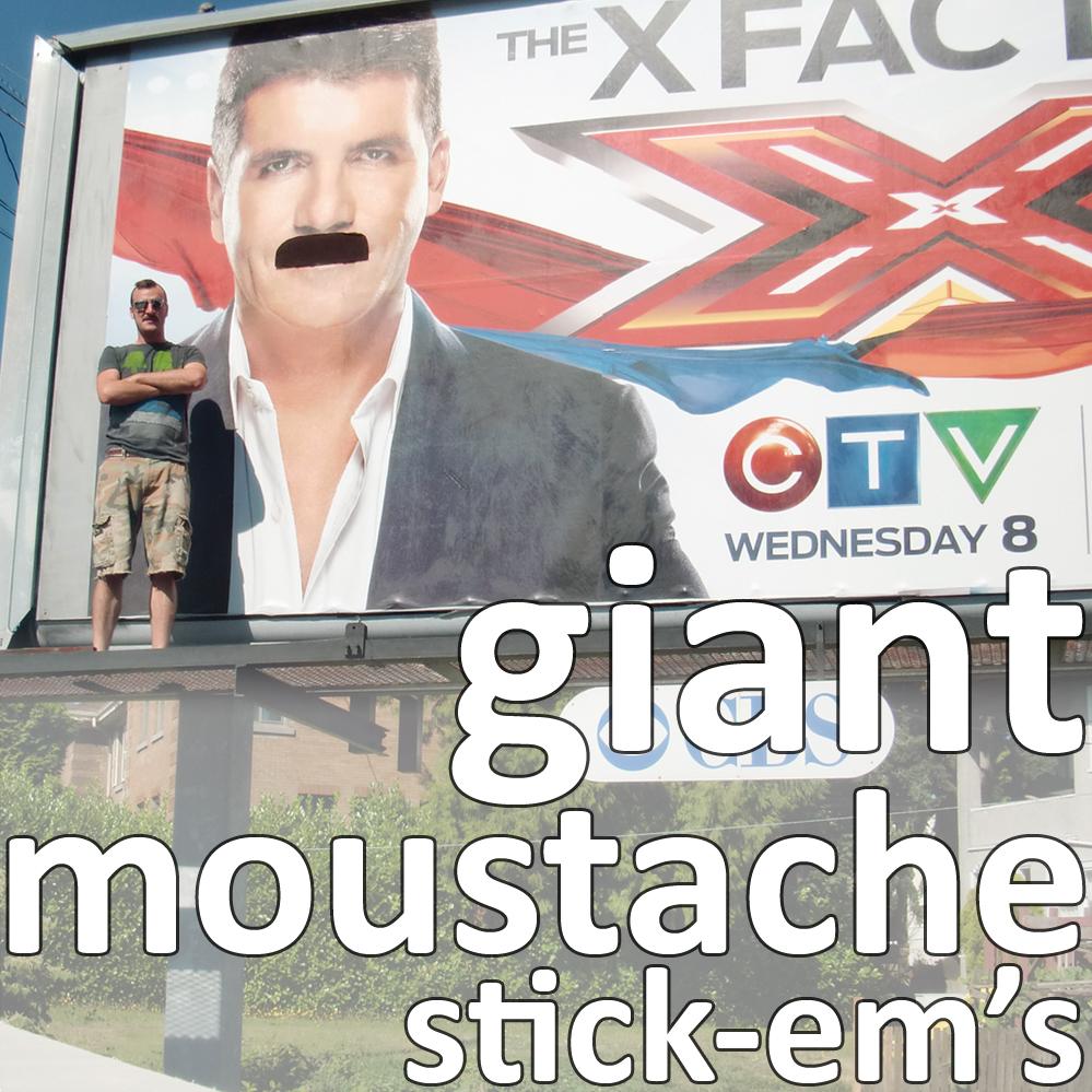 giant moustache stick-em's