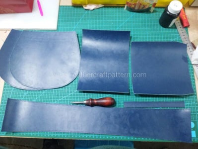 Bevel All Edges and Paint Edge Oil.