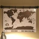 Fake Metal Pipe Map Holder
