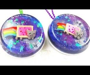 DIY Nyan Cat Glitter Galaxy
