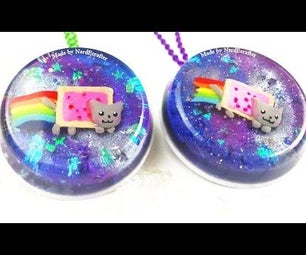 DIY Nyan Cat Glitter Galaxy