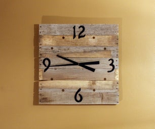 Wooden Pallet Wall Clock