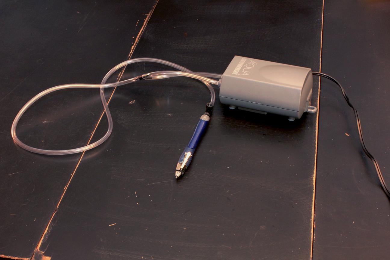 Electric Vacuum Pen From Aquarium Air Pump.