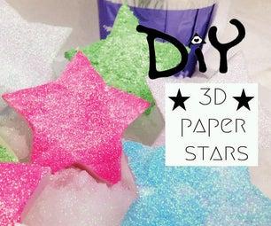 DIY 3D Paper Stars