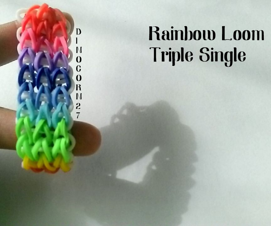 Rainbow Loom Triple Single Tutorial