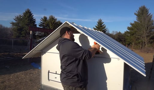 Install the Gable Panel on the Rear Side.