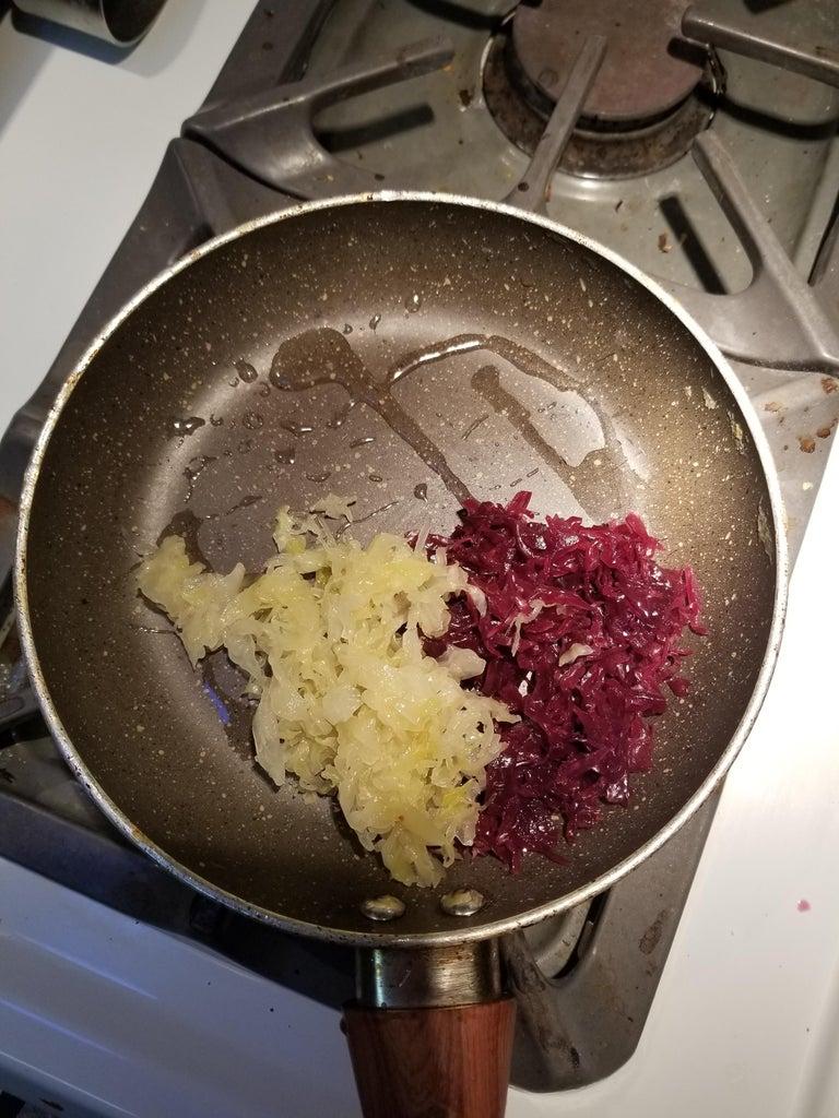 Saute the Sauerkraut.