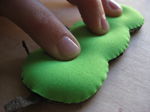 Three Fabric Buttons