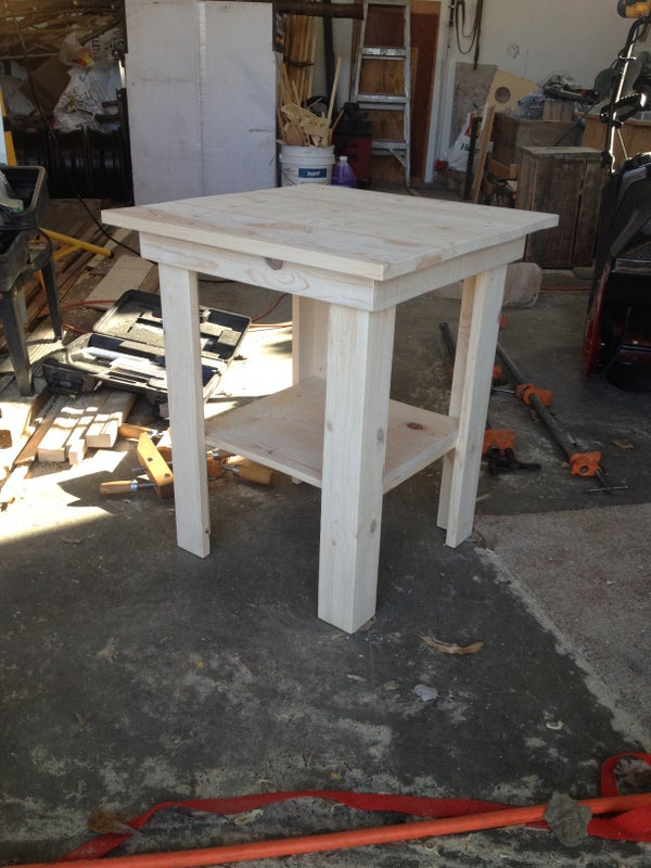Recycled Pallet End Table