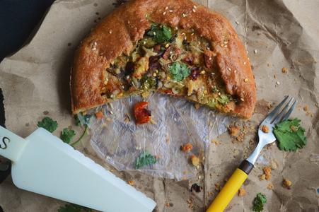 Wholewheat Galette With Savory Filling