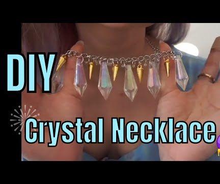 DIY Chunky Iridescent Necklace