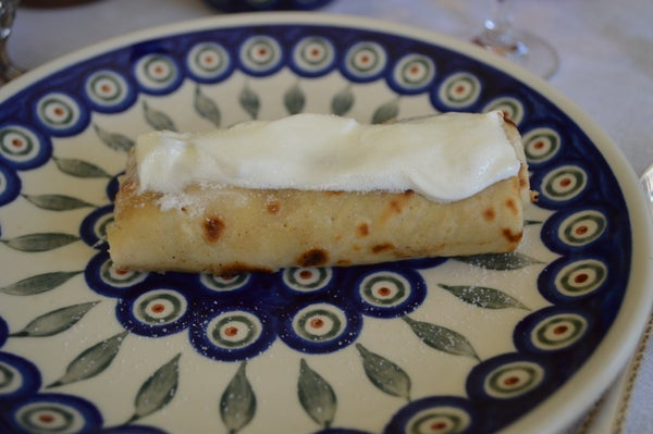 Nalesniki- Traditional Polish Crepes With Cheese Filling