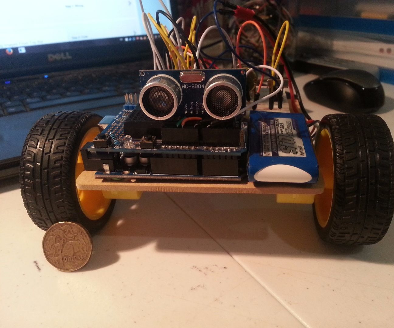 Arduino L293D Obstacle Avoiding Robot