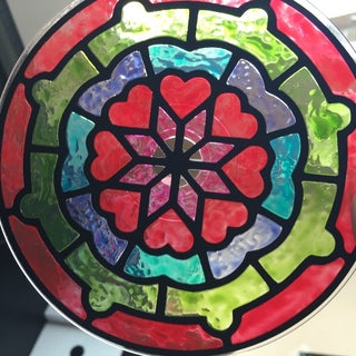CD Sun Catcher With Paper