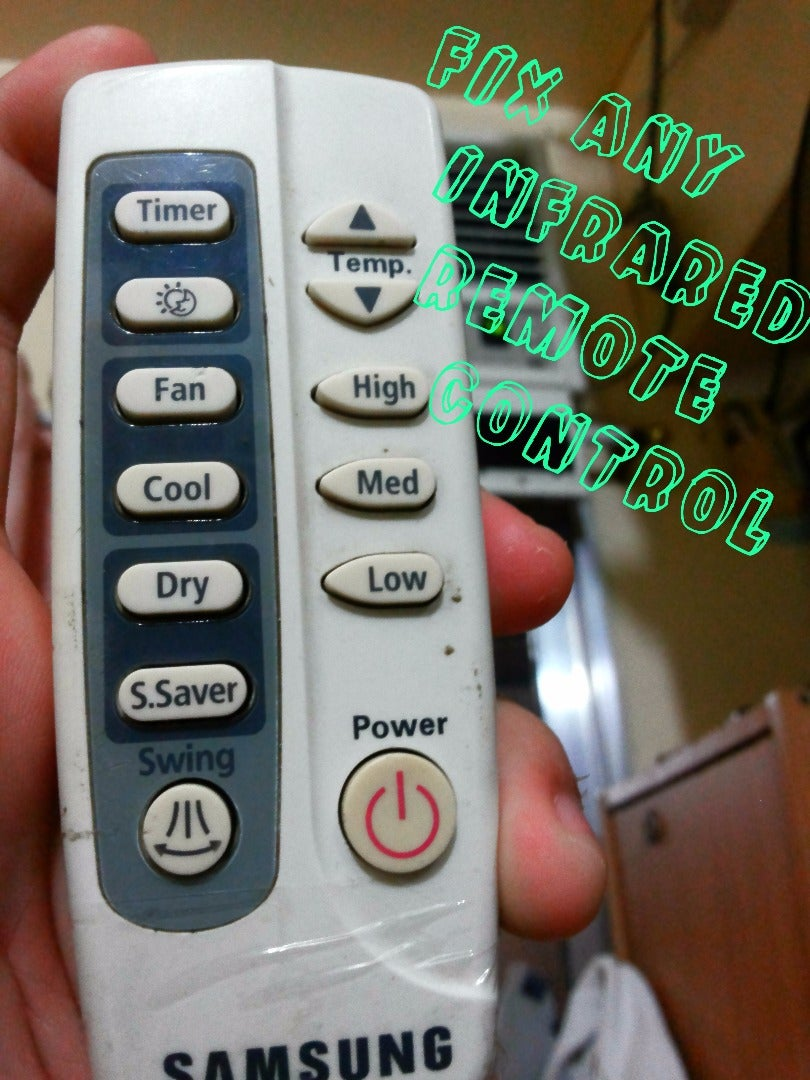 How to Fix Any NOT WORKING Infrared Remote Control
