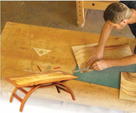 Veneering a Table Top