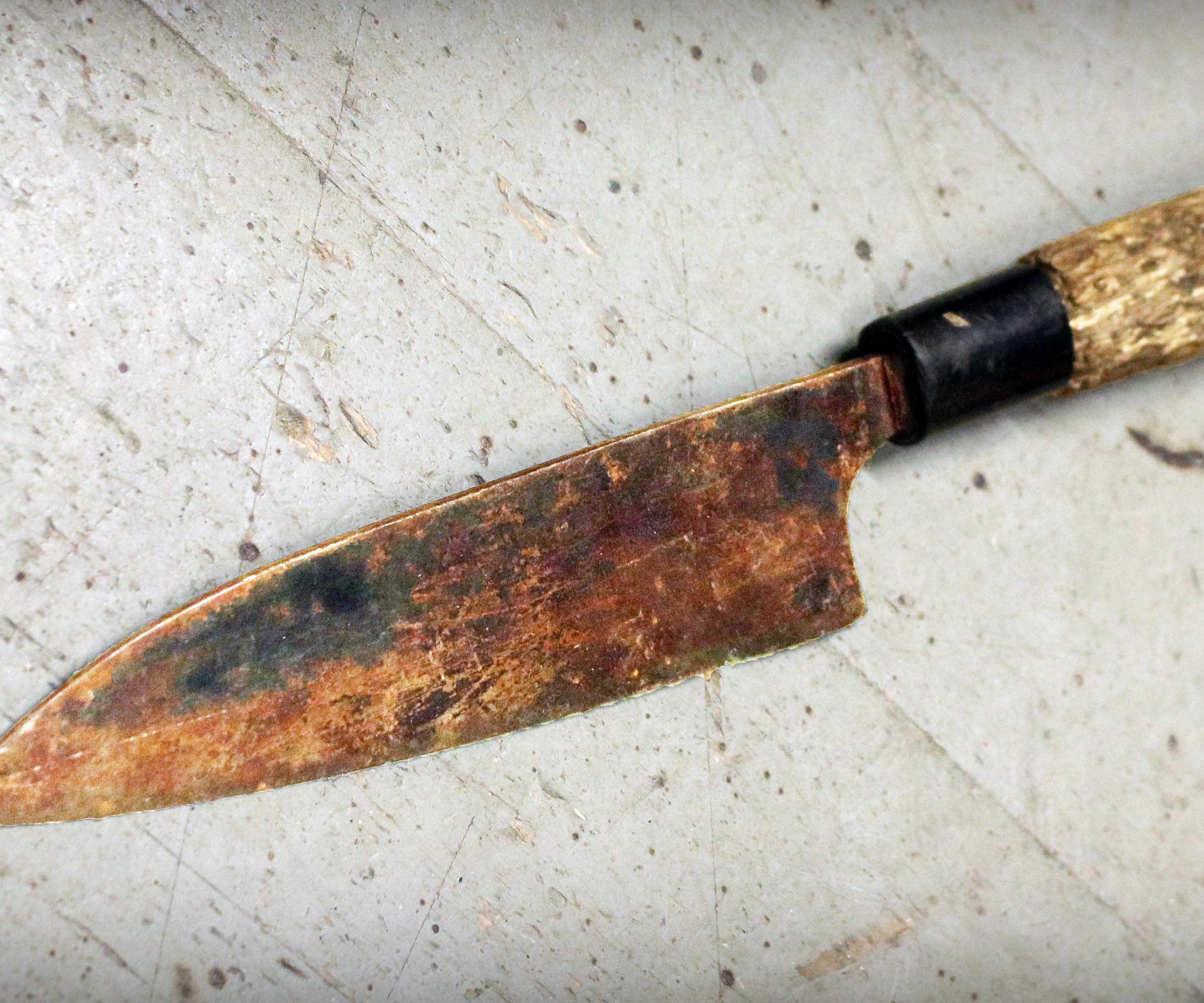 Restoring Rusty Japanese Kitchen Knife and Making Secret Wood Handle