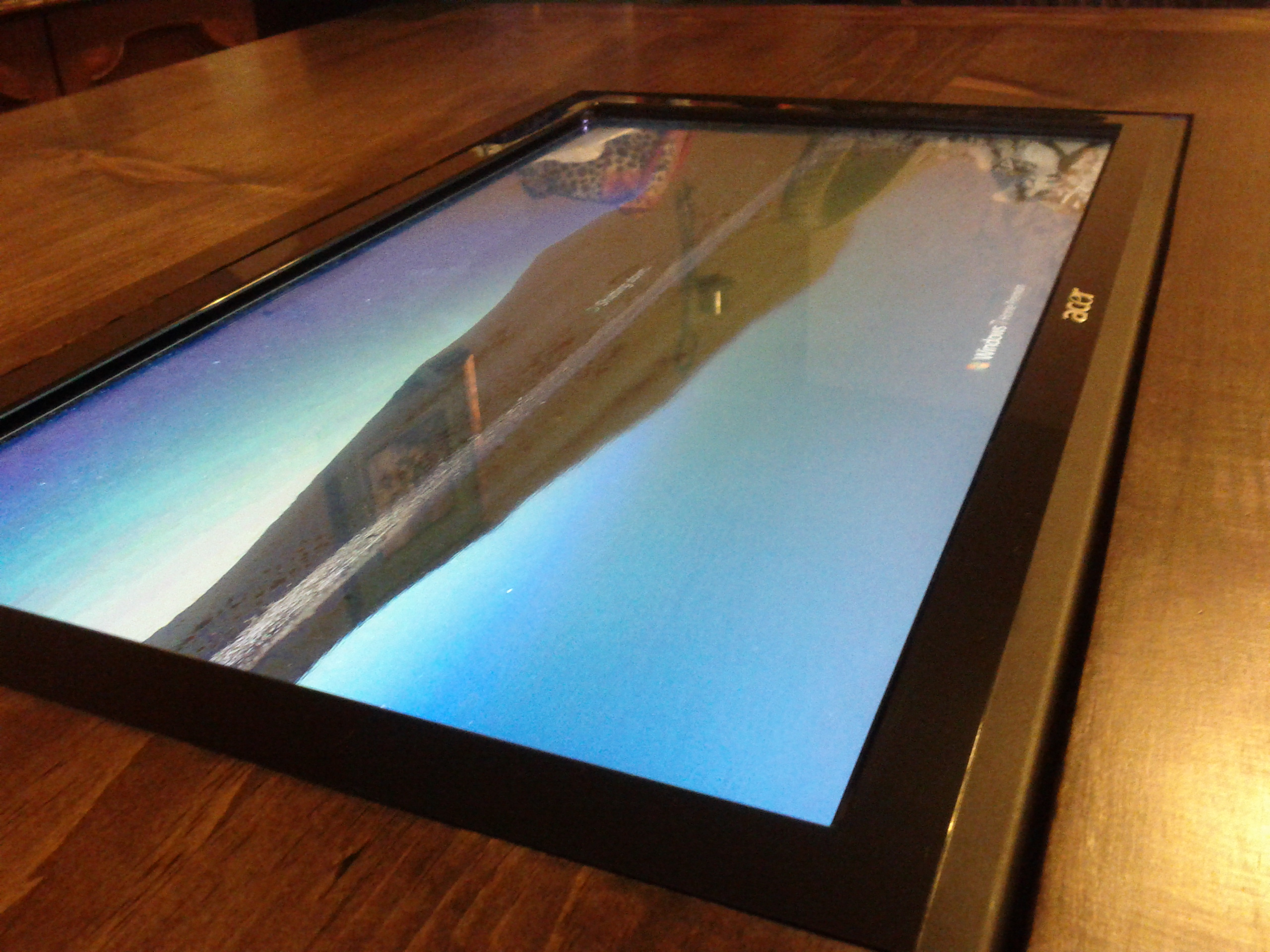Coffee table with built in touch screen