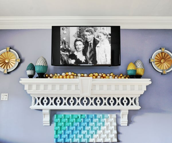 Home Decor How-to: Make a Holiday Mantle. Fireplace Not Required
