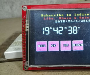 How to Make Realtime Clock Using Arduino and TFT Display Arduino Mega RTC With 3.5 Inch TFT  Display