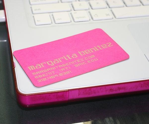 Laser Etched / Laser Cut Business Cards