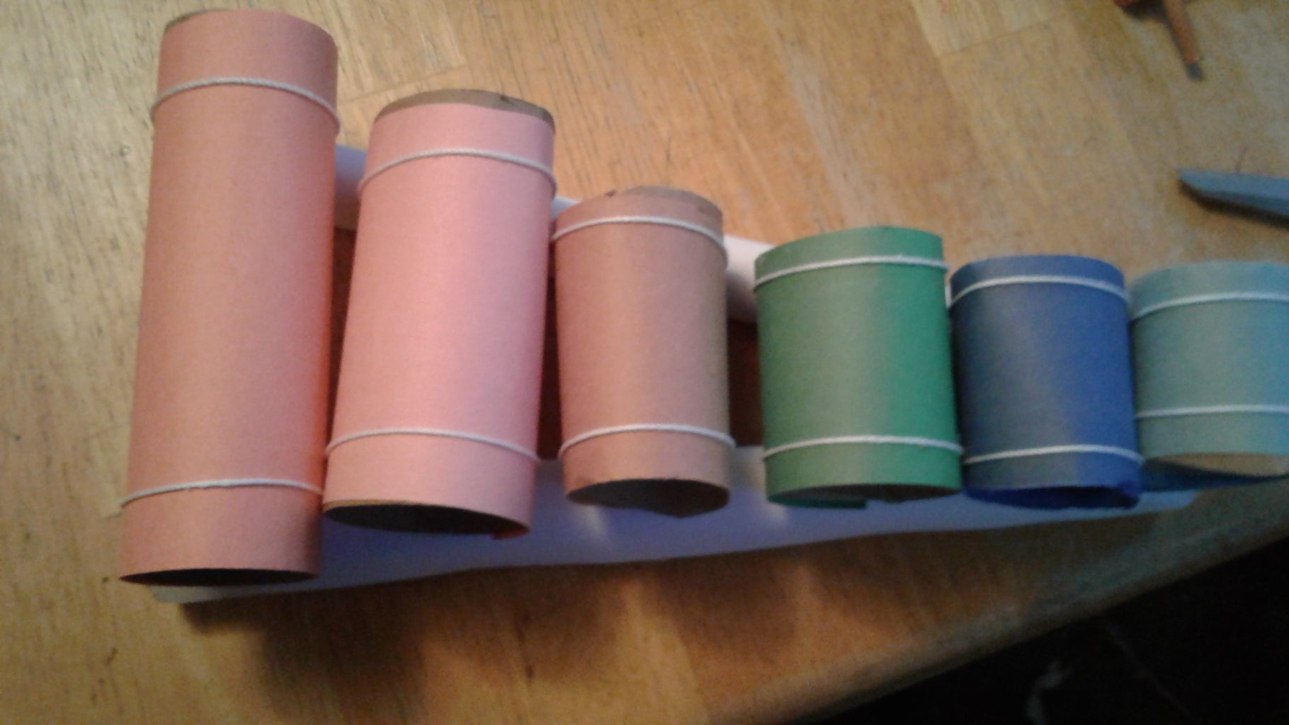 Paper Tube Xylophone