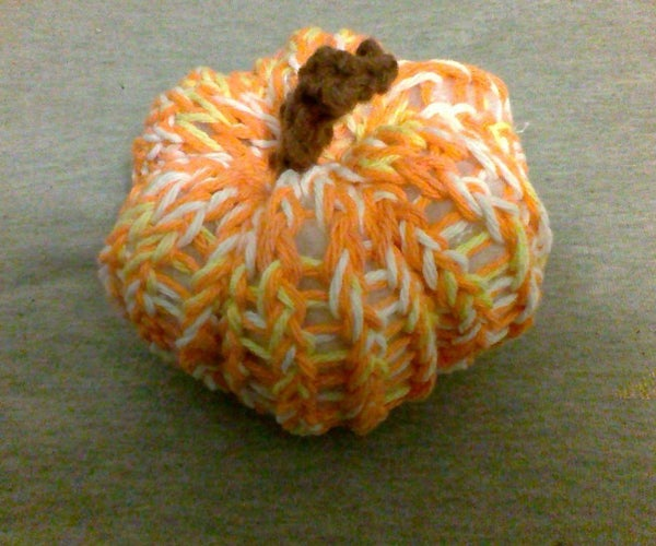 Super Easy Knit Pumpkin for People Who Have Never Knit in Their Life