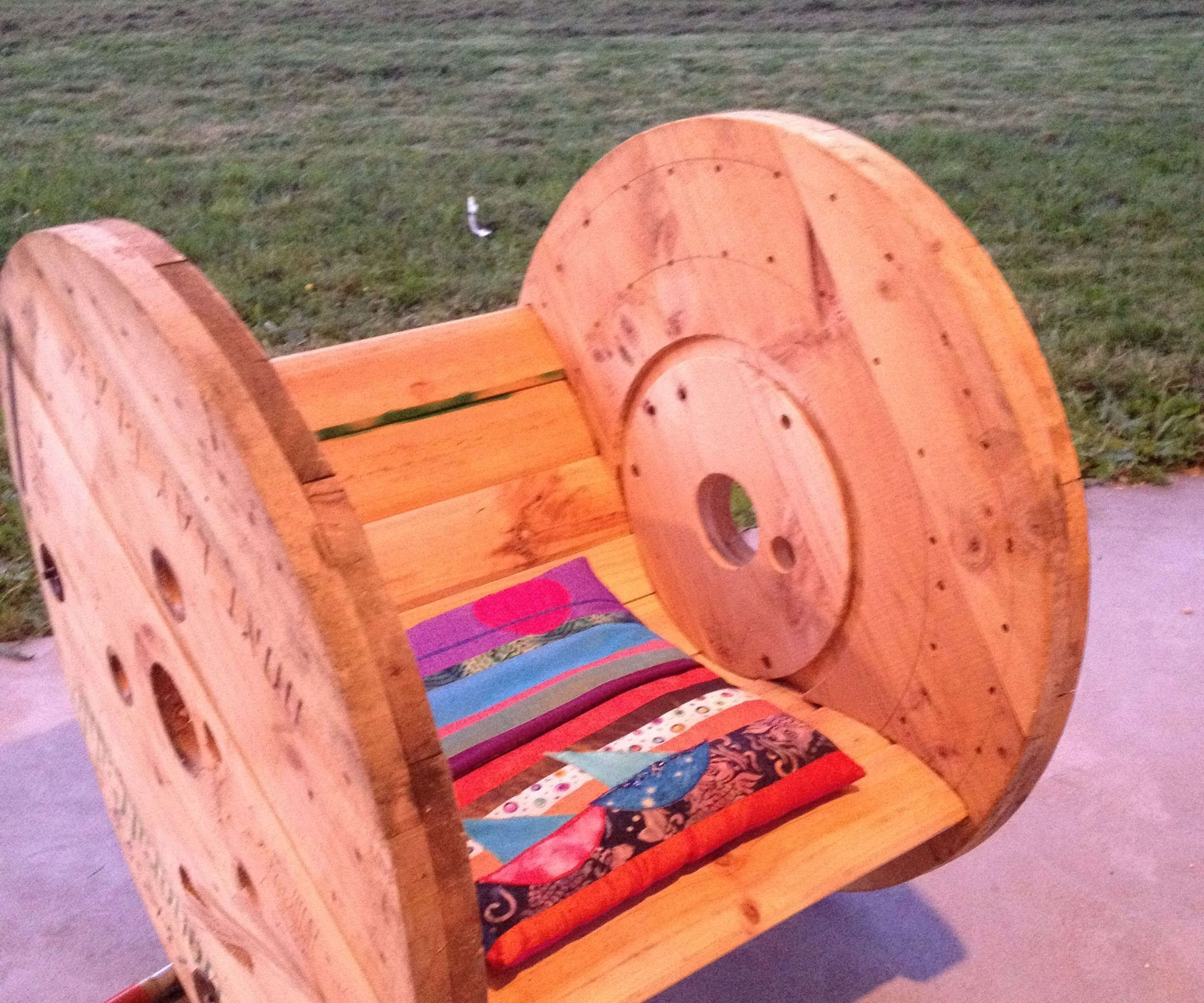 DIY Cable Drum Rocking Chair