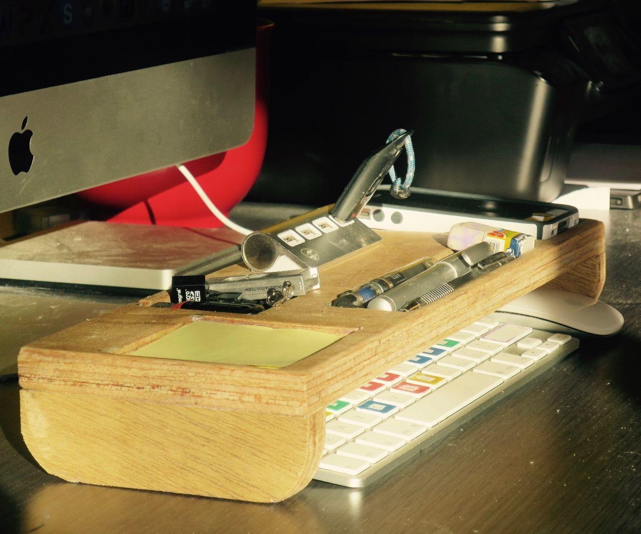 Wood desk organizer