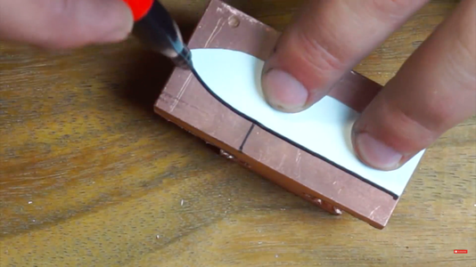 Cutting Rounded Edge