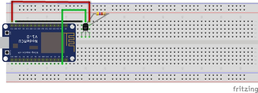Build a Temperature Sensor Using an ESP8266 and DS18b20 - Output to Serial
