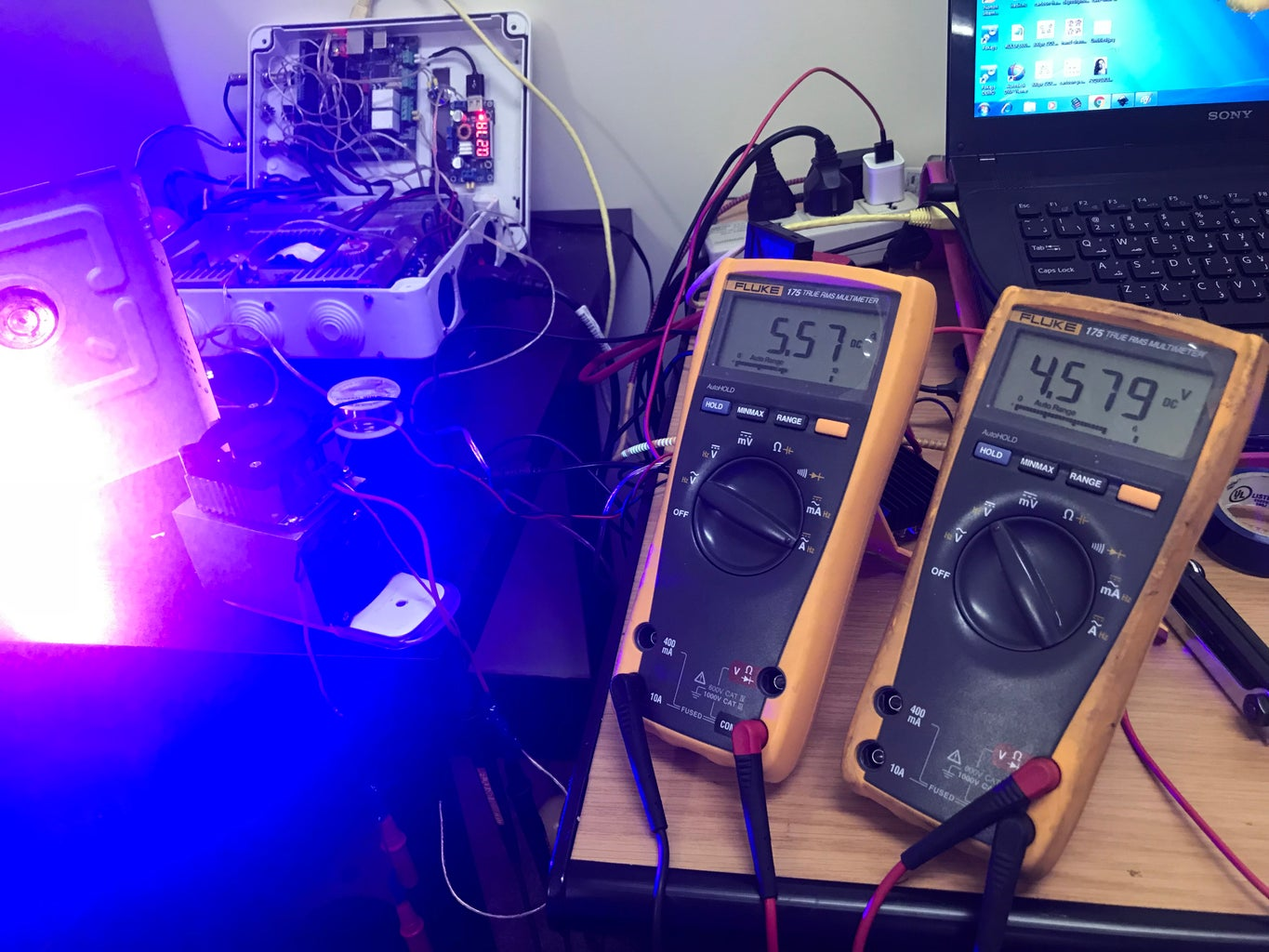 Laser Diode Volt and Current Setting
